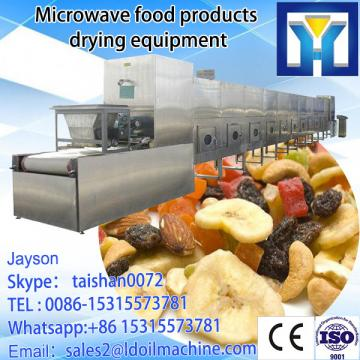 Microwave conveyor oven for drying and sterilizing pet food